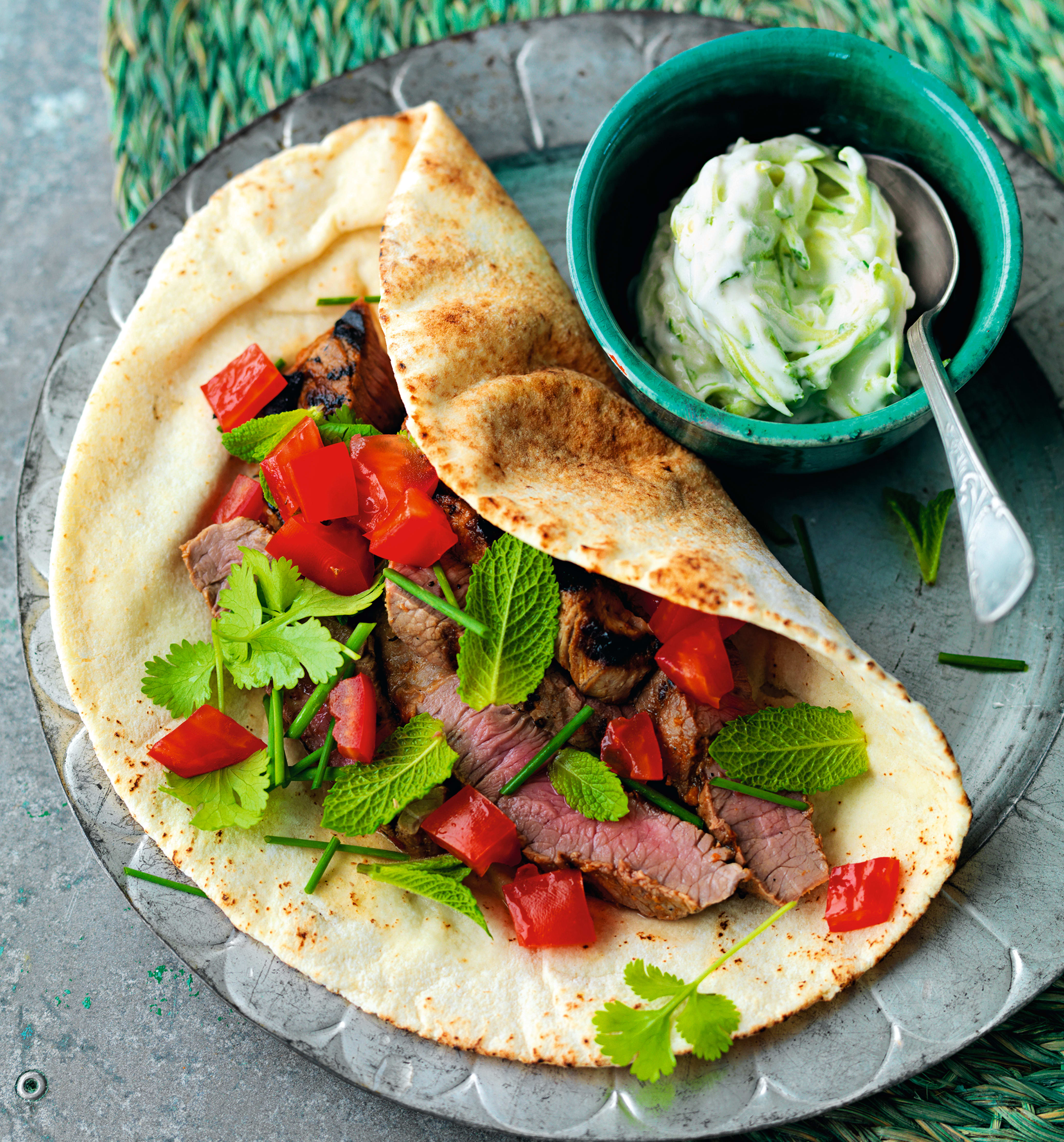 Photo of Harissa lamb with courgette tzatziki by WW