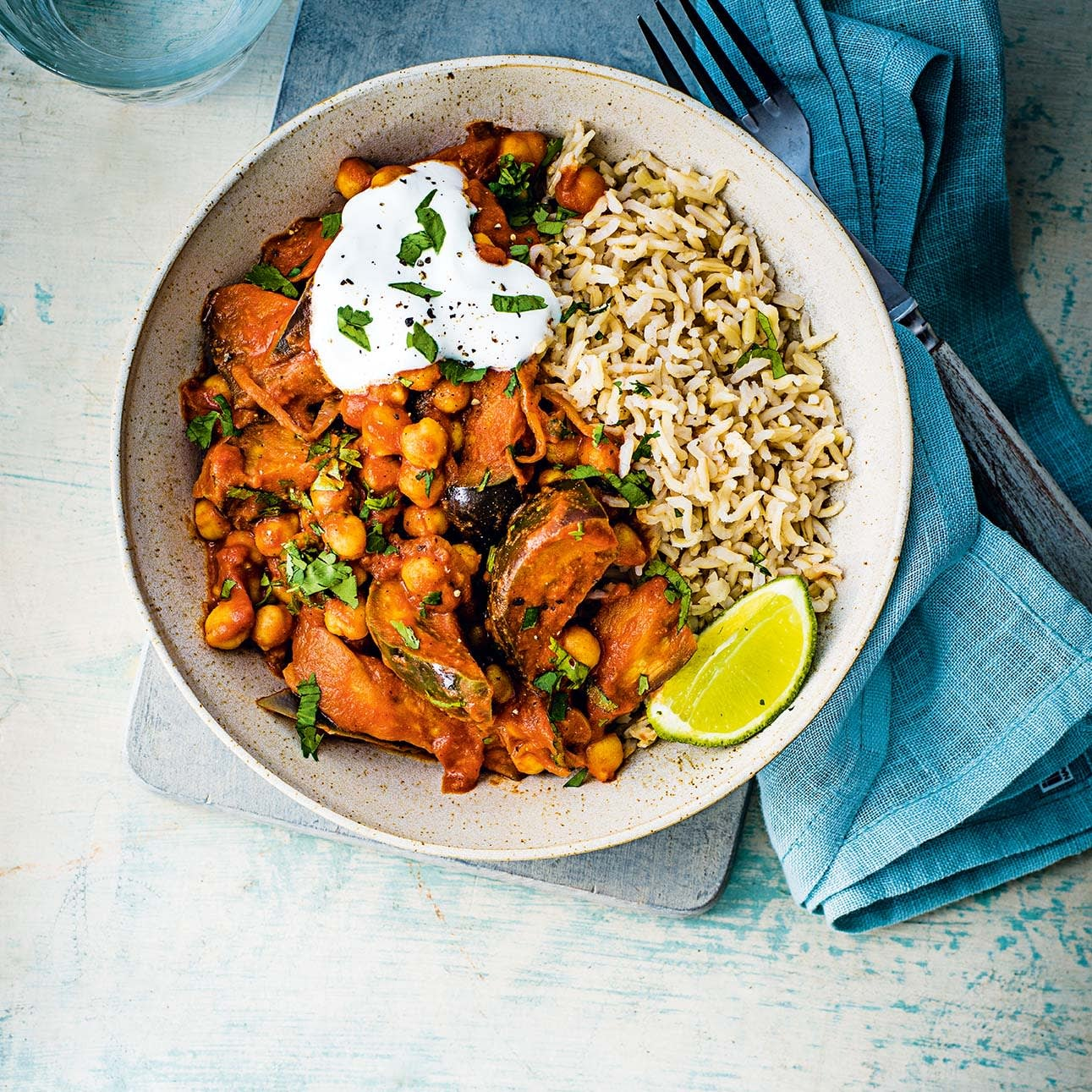 Photo of Aubergine & chickpea curry by WW