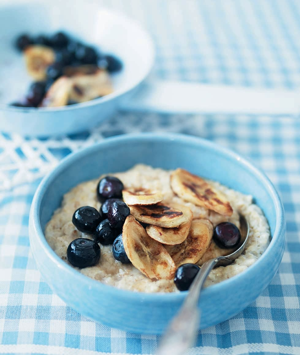 Photo of Porridge with caramelised bananas & blueberries by WW