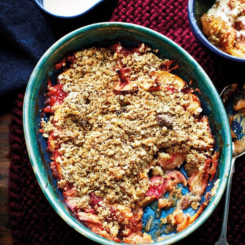 Photo of Apple & rhubarb crumble by WW