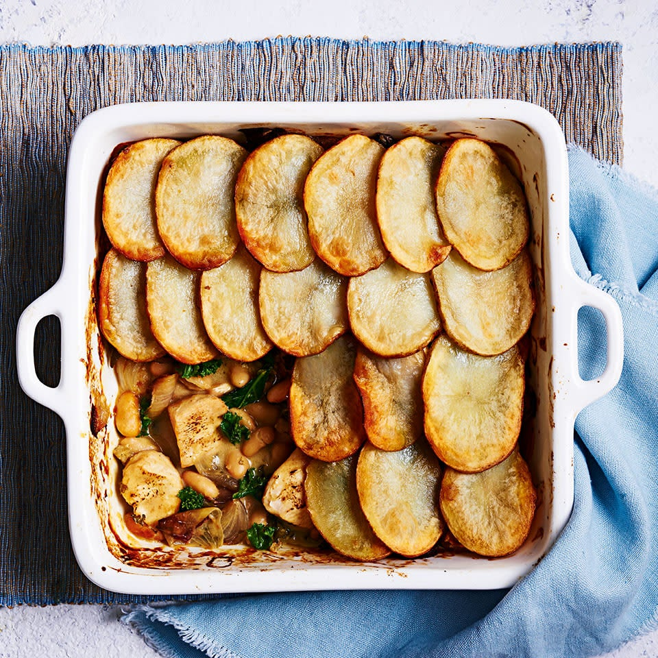 Photo of Chicken, kale & white bean pie with sliced potato topping by WW