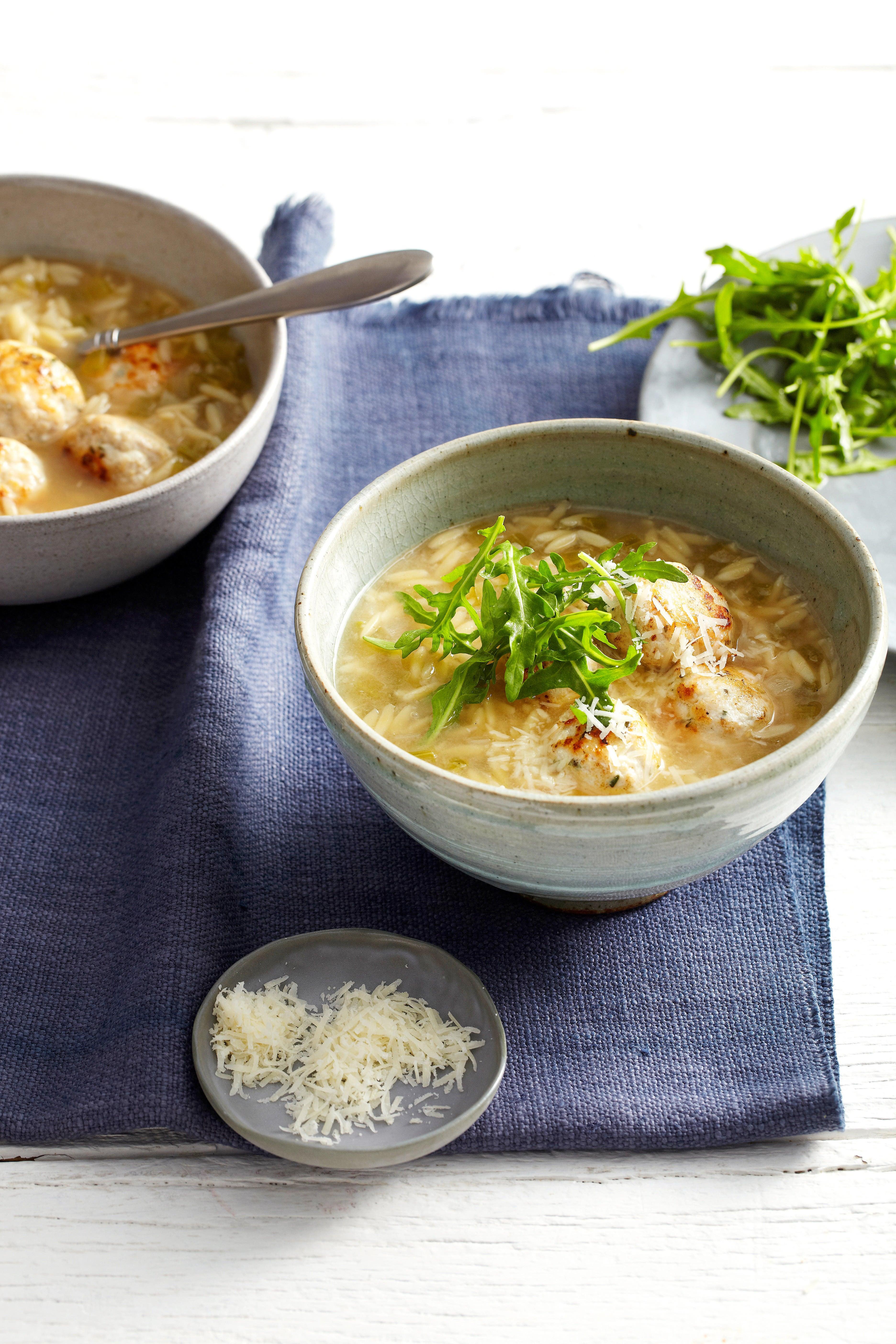 Photo of Rosemary turkey meatball soup by WW