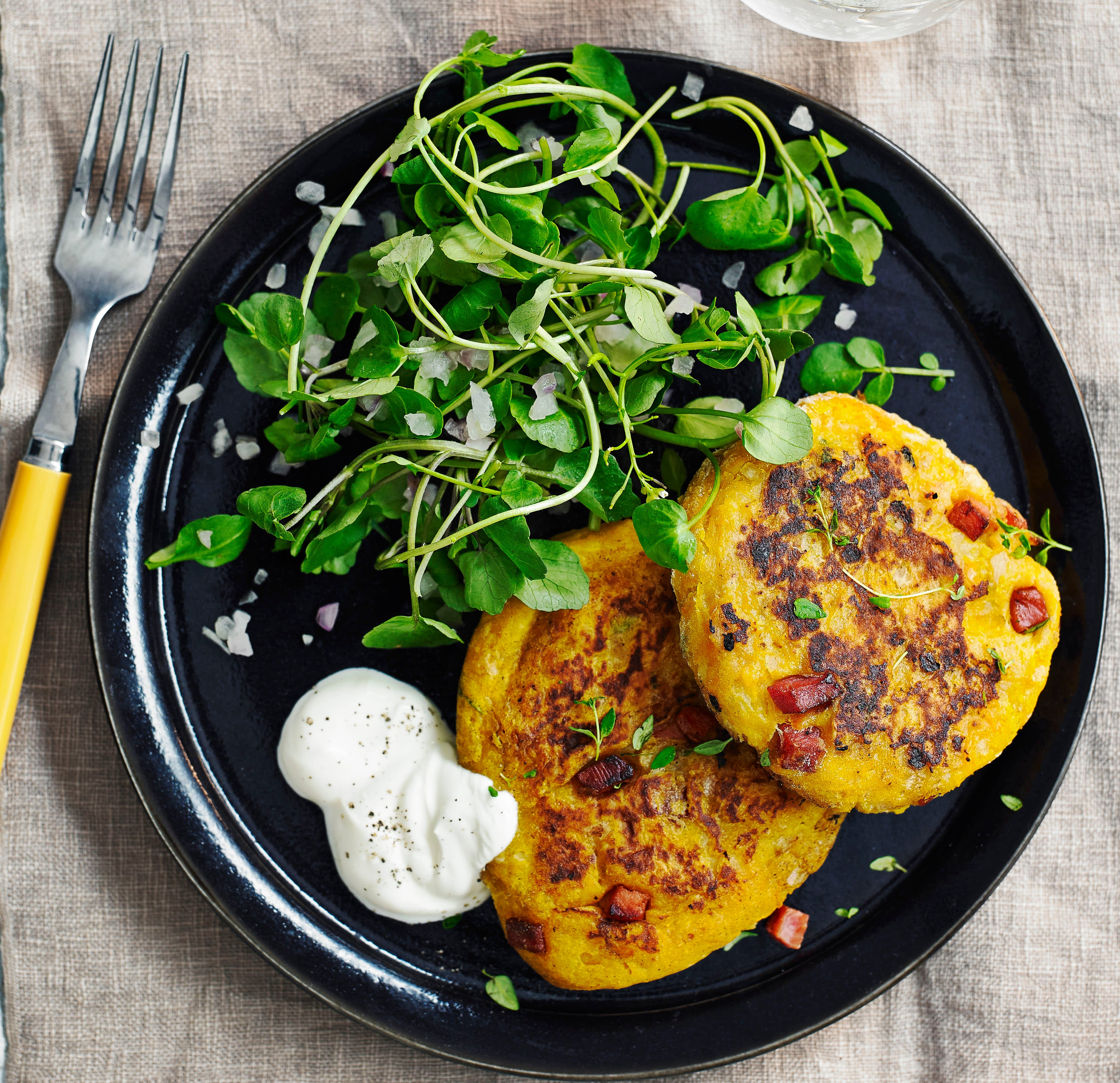 Photo of Butternut squash & pancetta cakes by WW