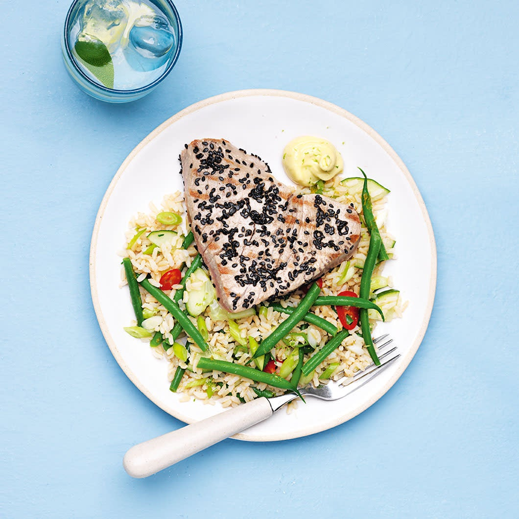 Photo of Sesame tuna with Japanese-style salad by WW