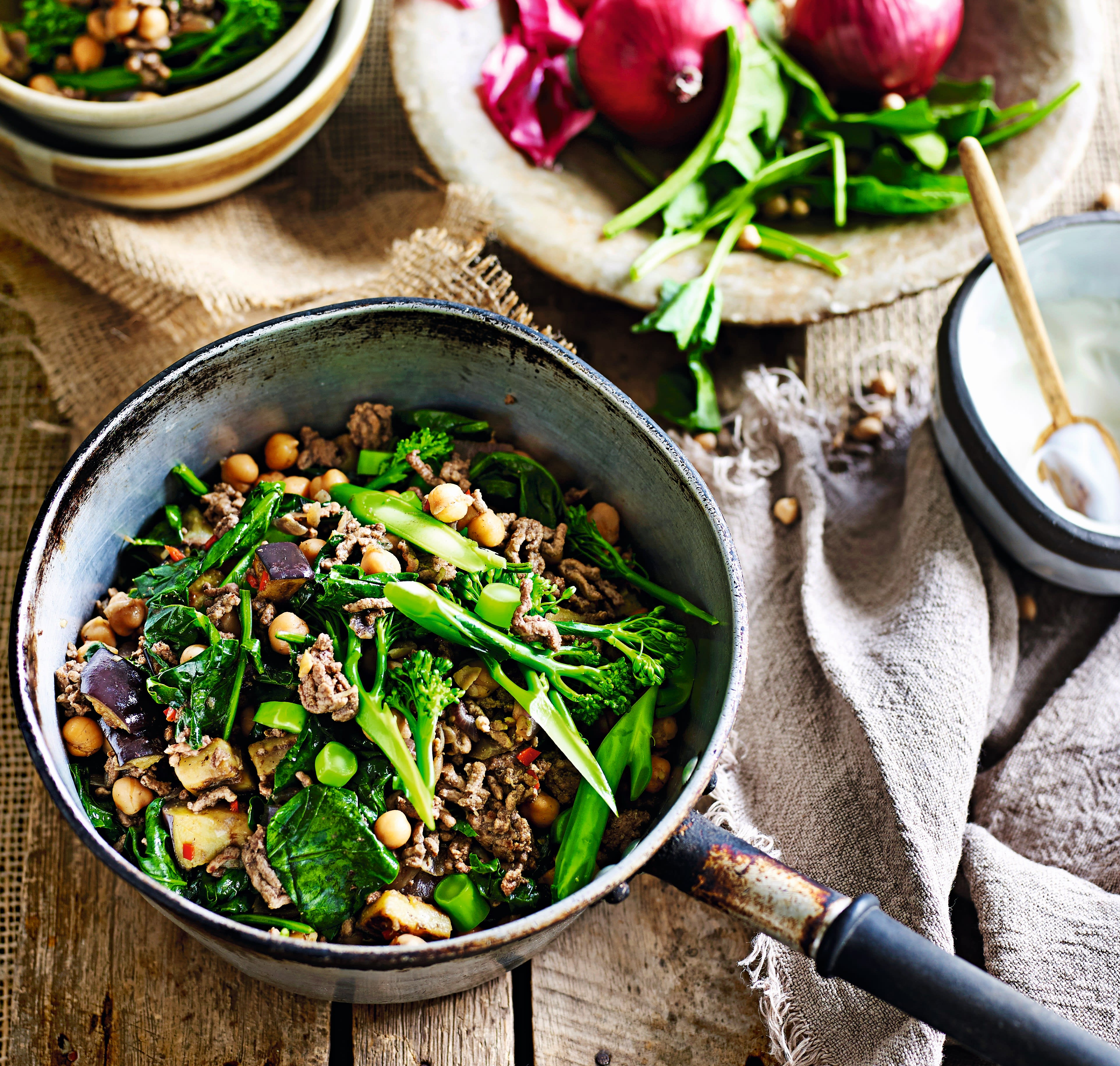 Photo of Spicy beef with aubergine & chickpeas by WW