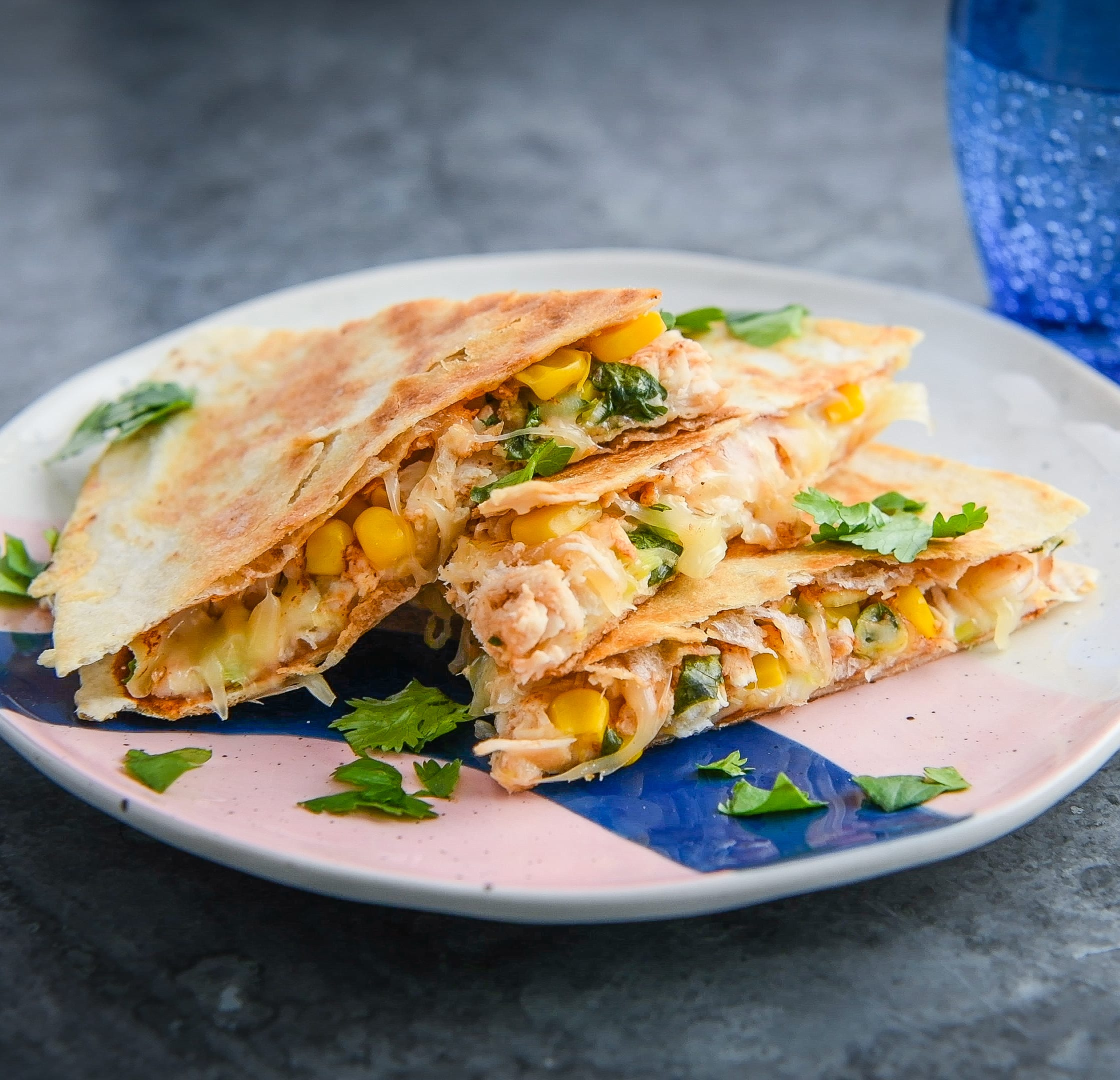 Photo of Barbecue chicken & sweetcorn quesadilla by WW