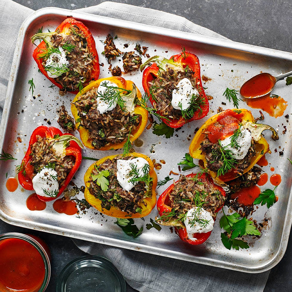 Photo of Beef & rice stuffed peppers by WW