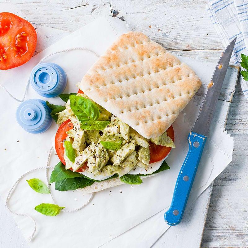 Photo of Pesto chicken salad sandwich by WW