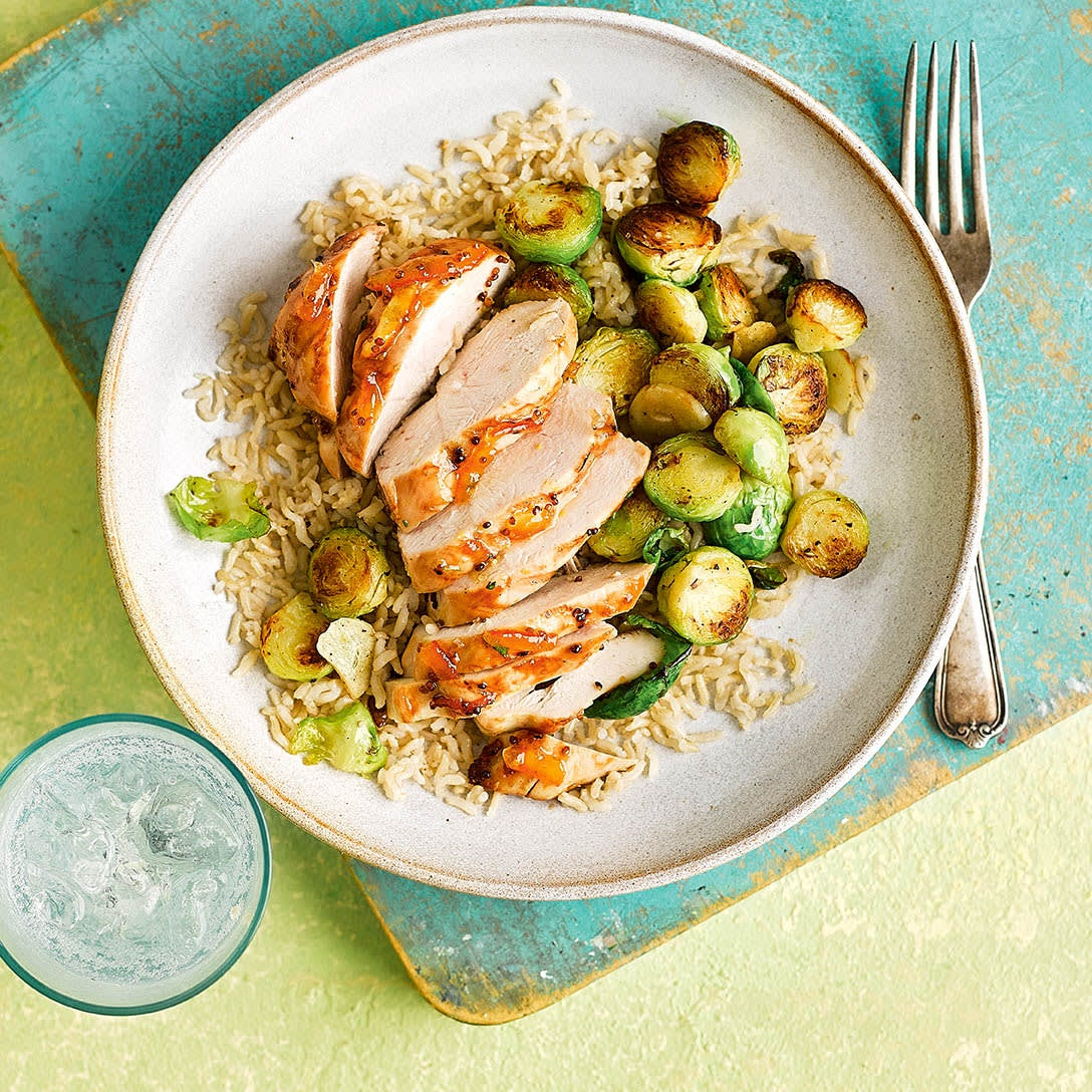 Photo of Spiced marmalade chicken with brussels sprouts by WW
