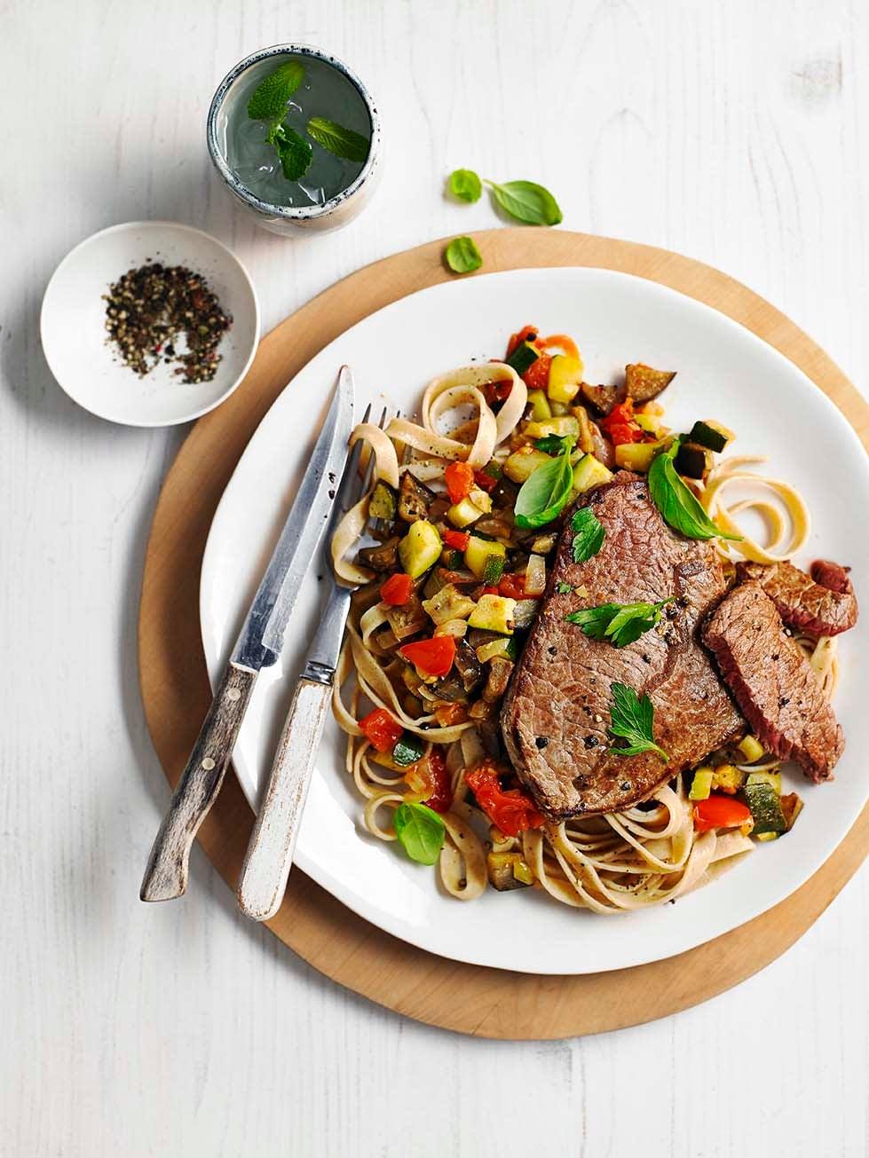 Photo of Italian-style steak & vegetable tagliatelle by WW