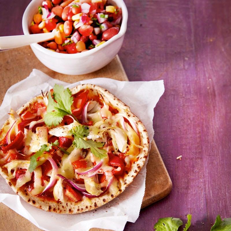 Photo of Chicken tex-mex pitta pizza by WW