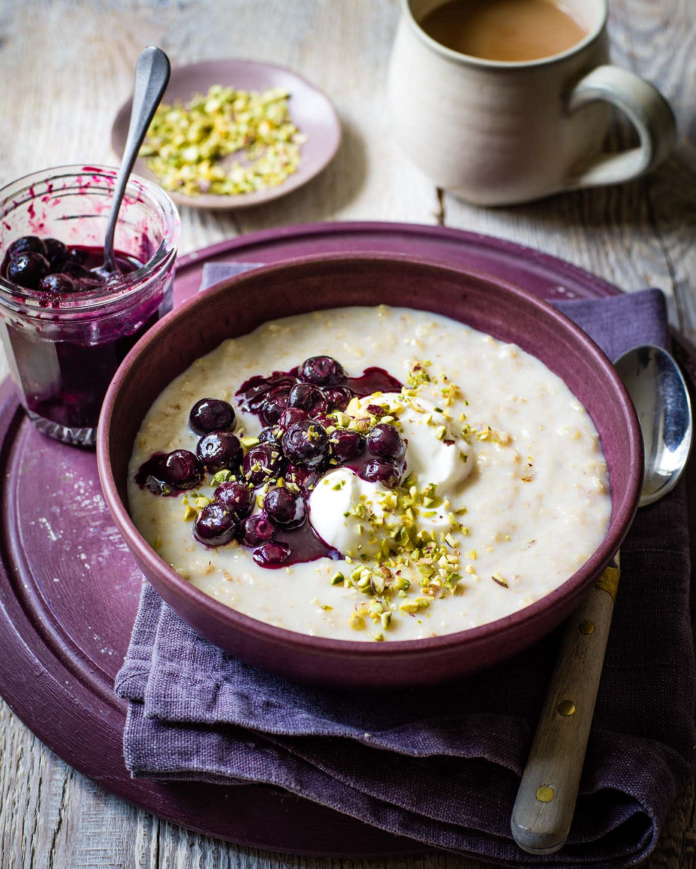 Photo of Porridge with blueberry compote by WW