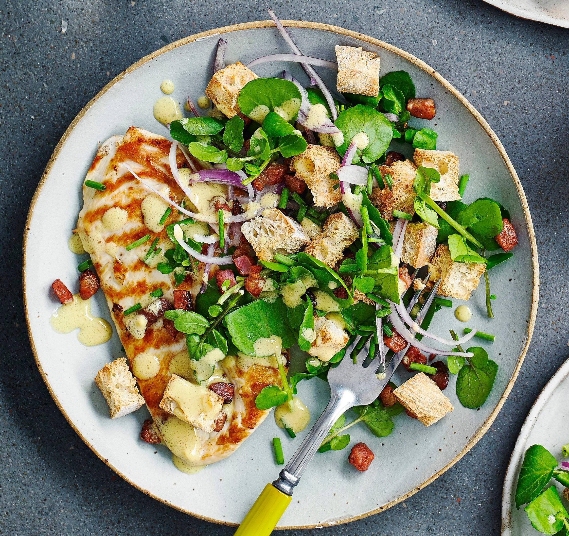 Photo of Warm chicken, pancetta & watercress salad by WW