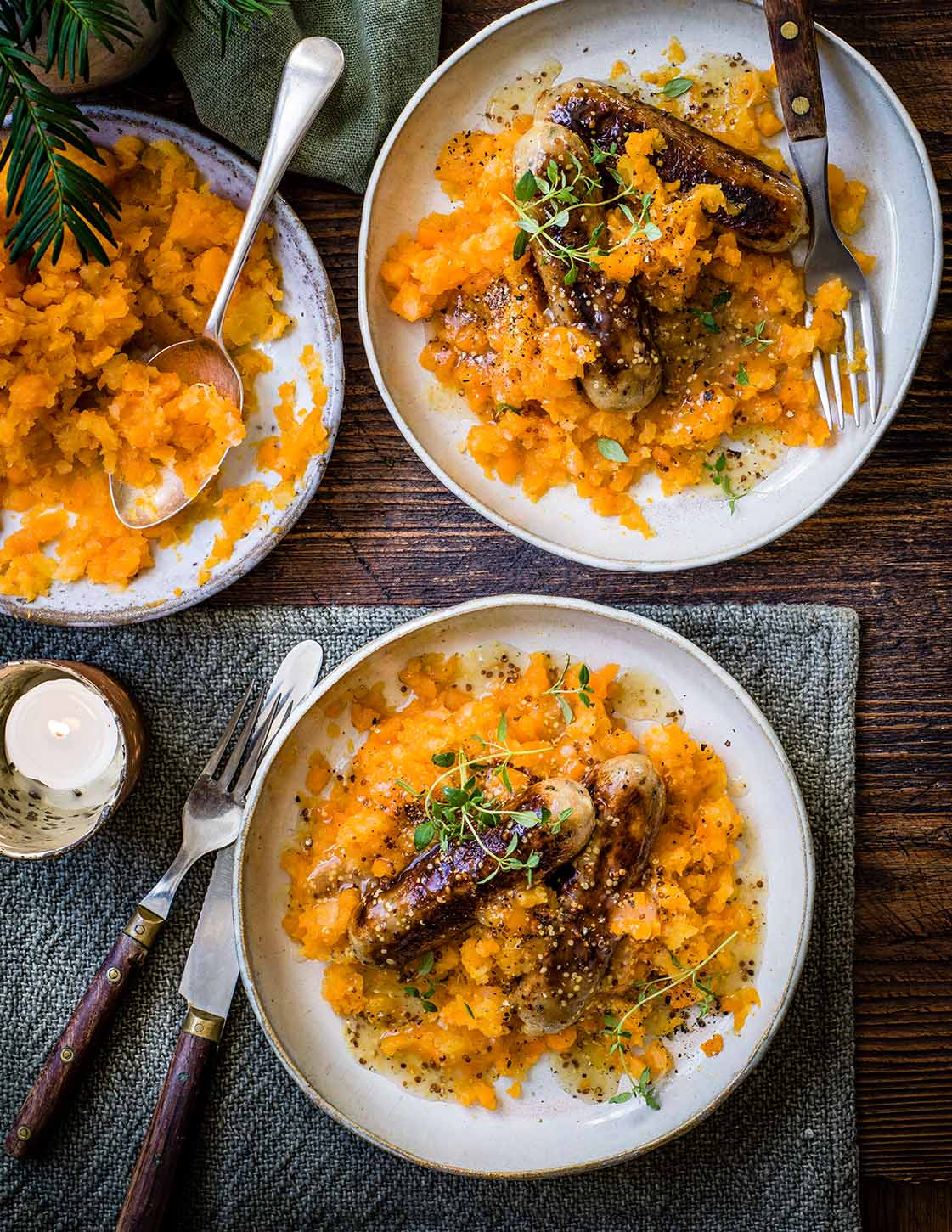 Photo of Vegan sausages with carrot & swede mash by WW