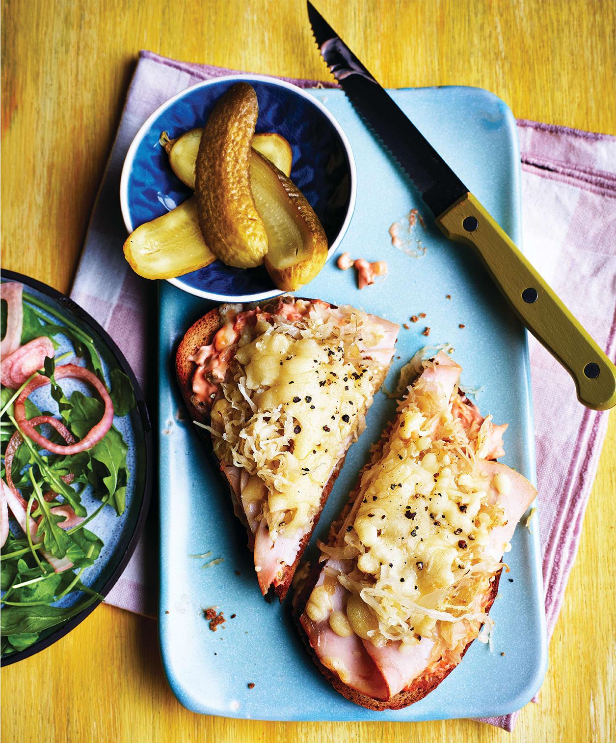 Photo of Open turkey Reuben sandwich by WW