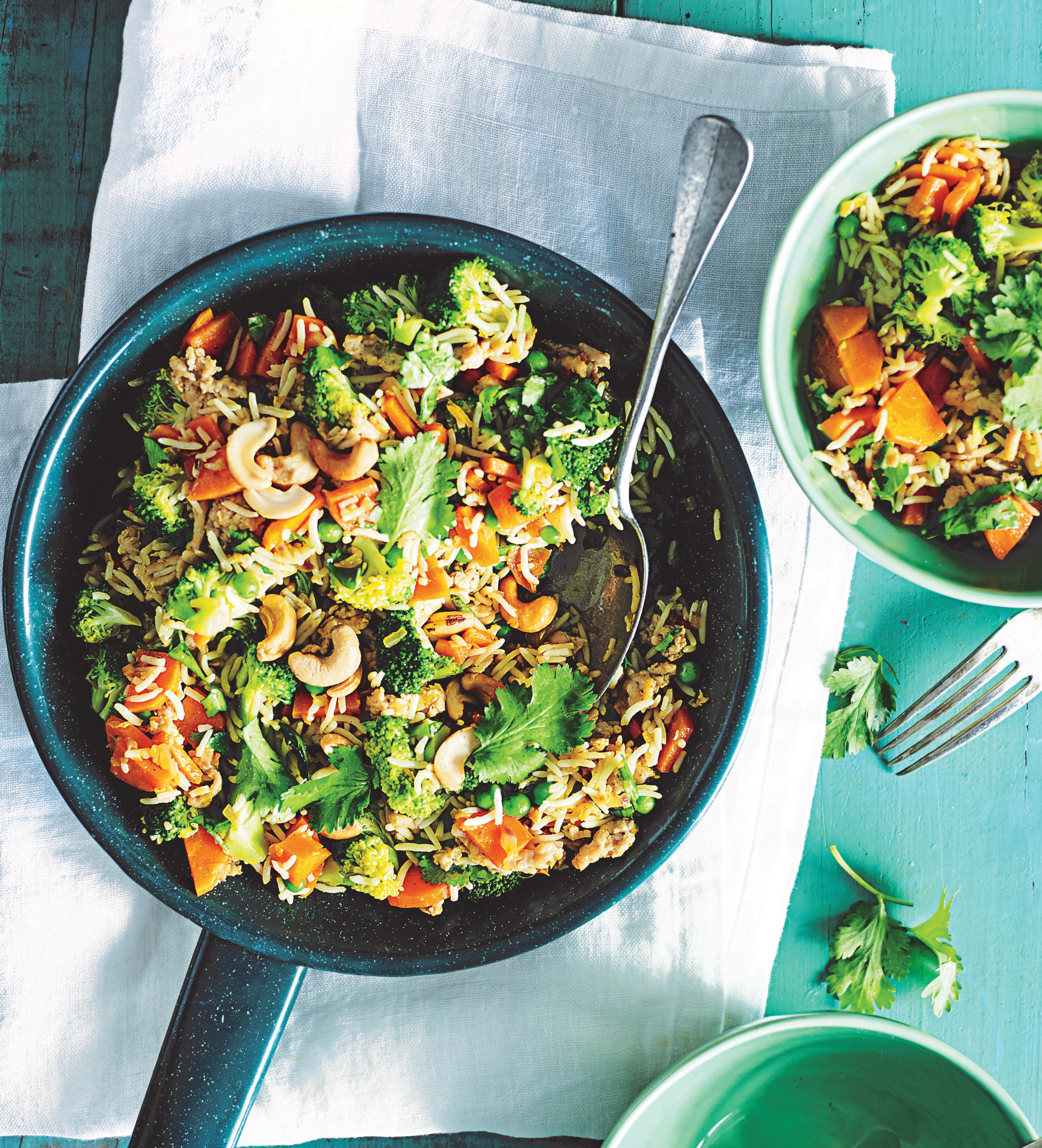 Photo of Indian-spiced chicken & broccoli fried rice by WW