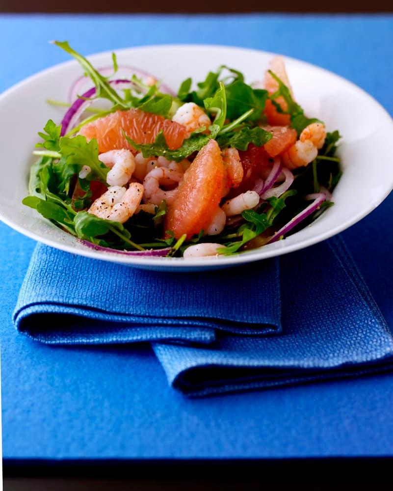 Photo of Rocket, pink grapefruit & prawn salad by WW