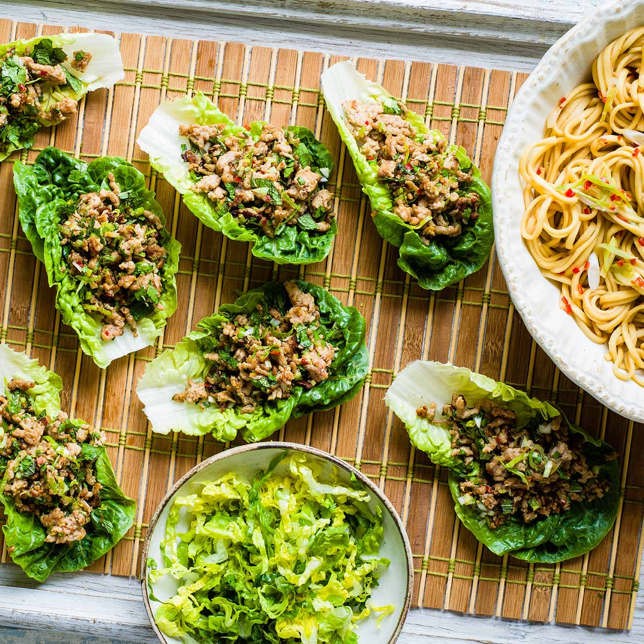 Photo of Pork larb with satay noodles by WW