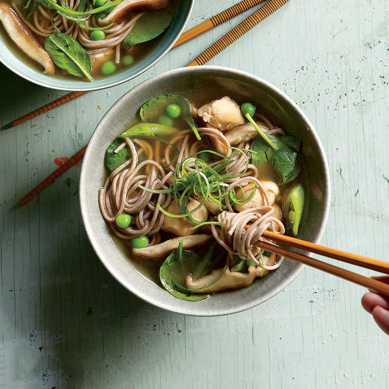 Photo of Soba noodle chicken bowl by WW