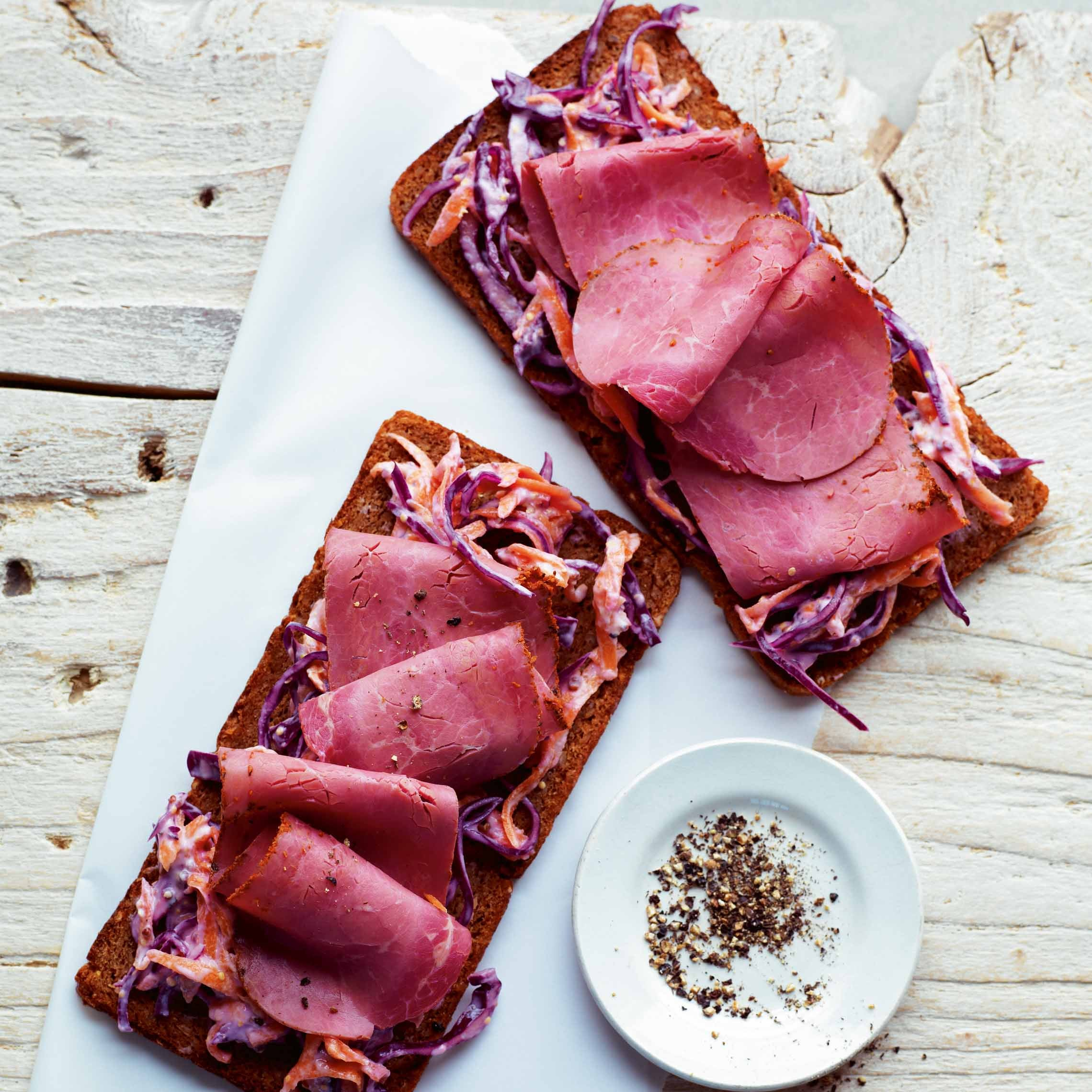 Photo of Pastrami & coleslaw on rye by WW
