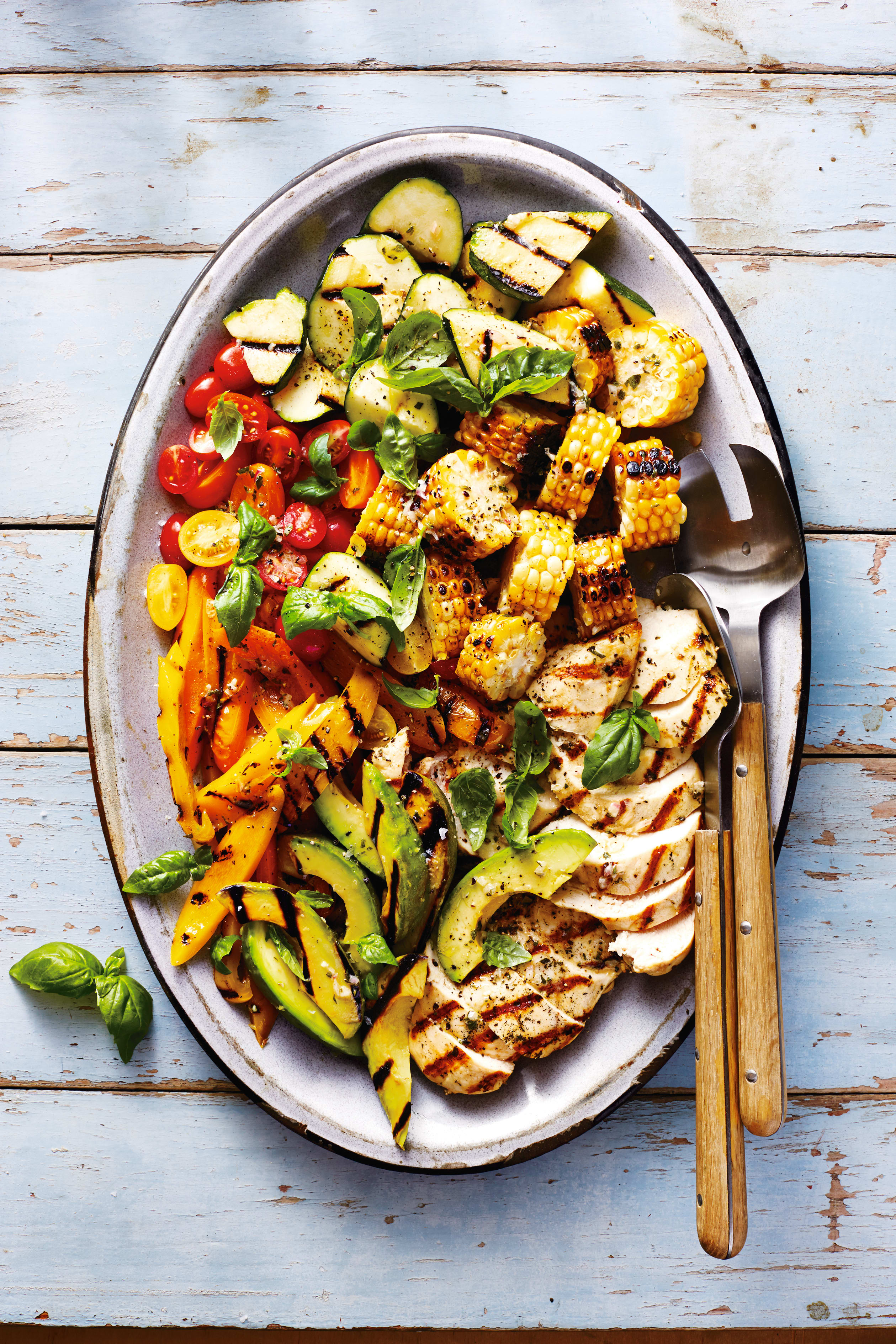 Photo of Barbecued chicken, corn & summer veg  salad by WW