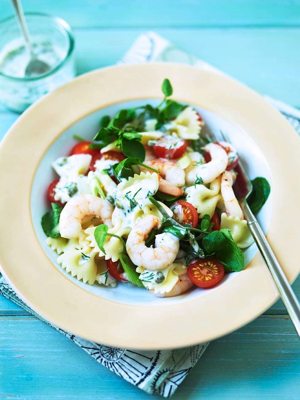 Photo of Farfalle with prawns, watercress & capers by WW