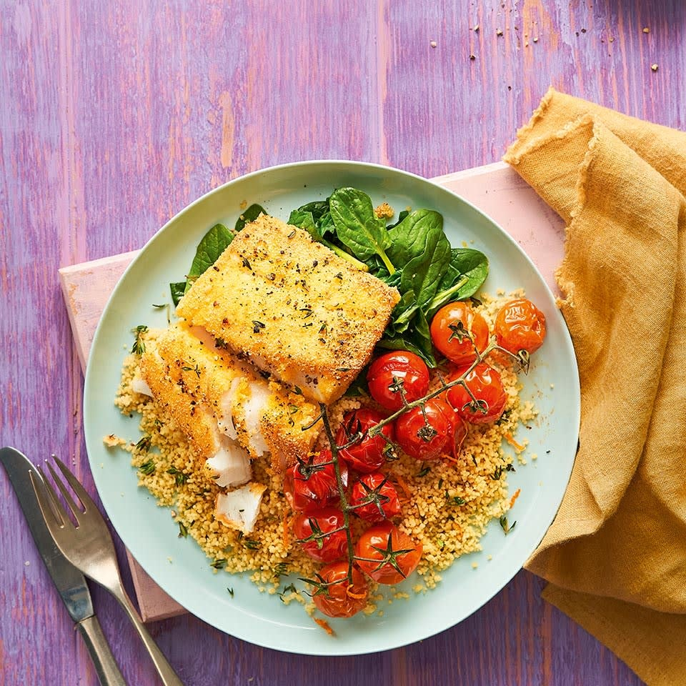 Photo of Crispy polenta cod with roasted tomatoes by WW