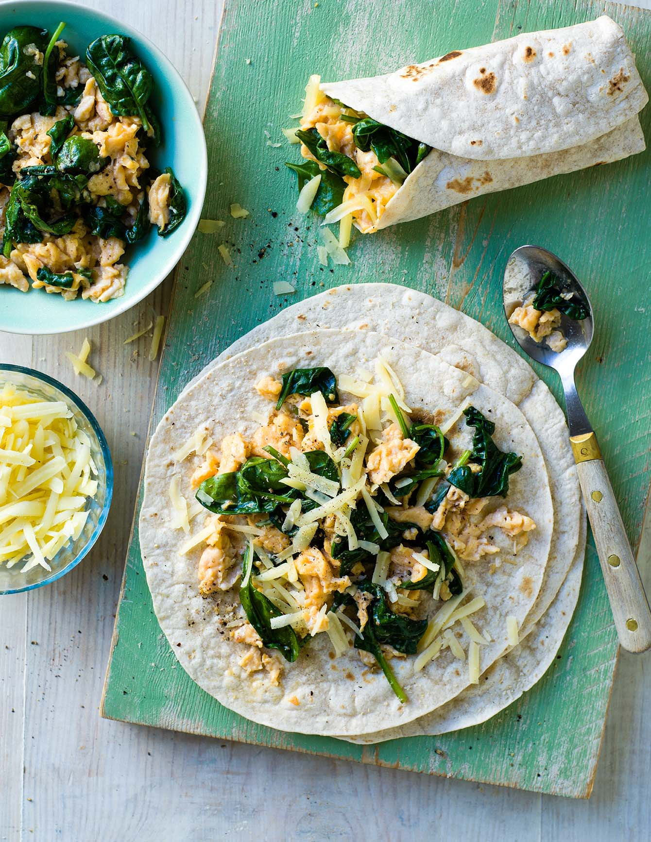 Photo of Scrambled egg & spinach wraps by WW