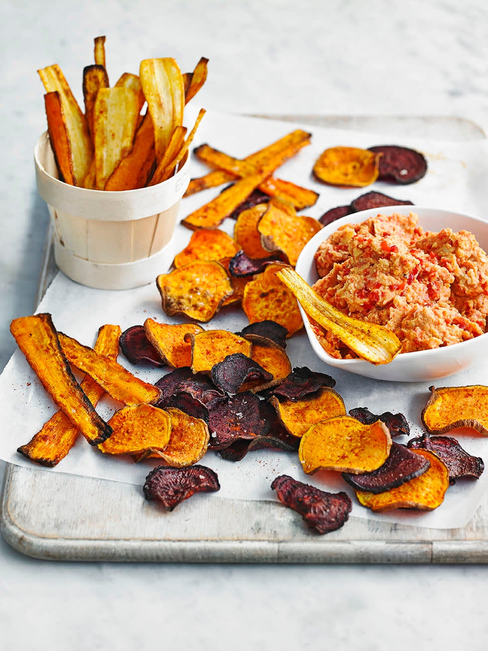 Photo of Root veg crisps with houmous by WW