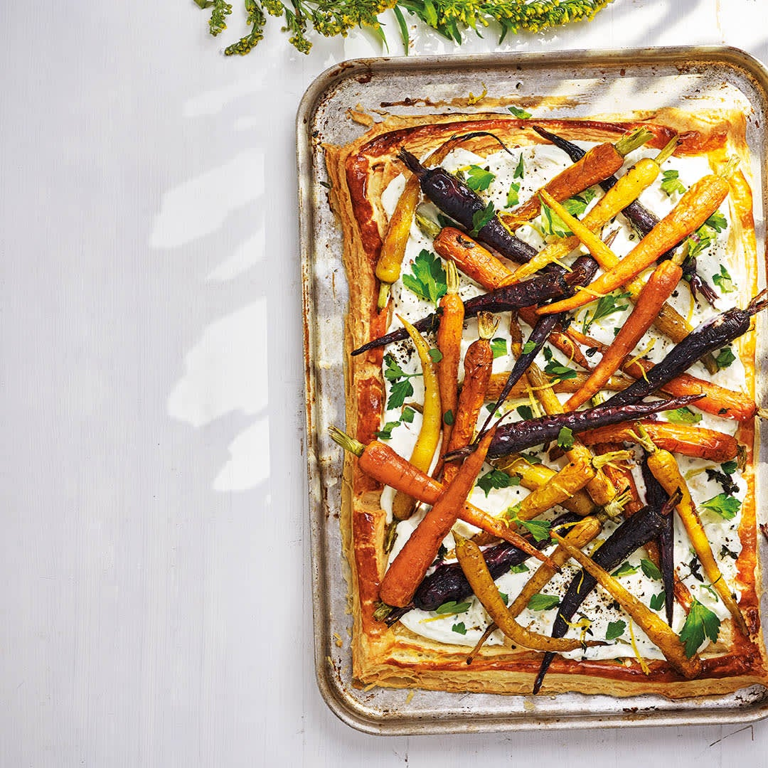 Photo of Carrot & pesto puff pastry tart by WW