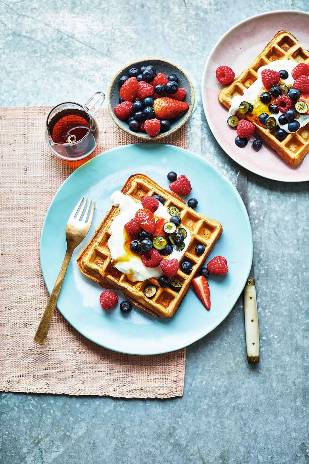 Photo of Oat waffles with mixed berries by WW