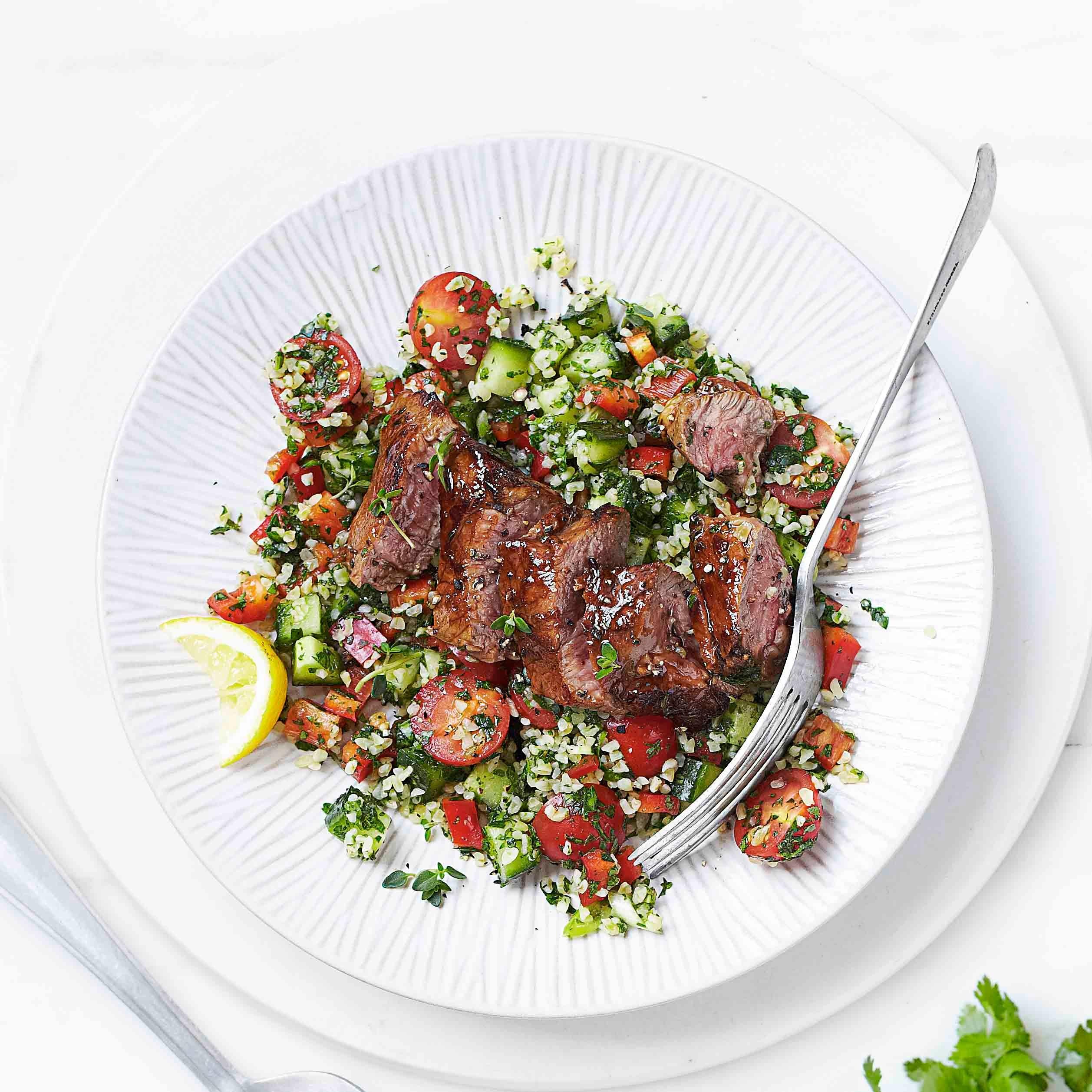 Photo of Spring lamb steaks & tabbouleh by WW