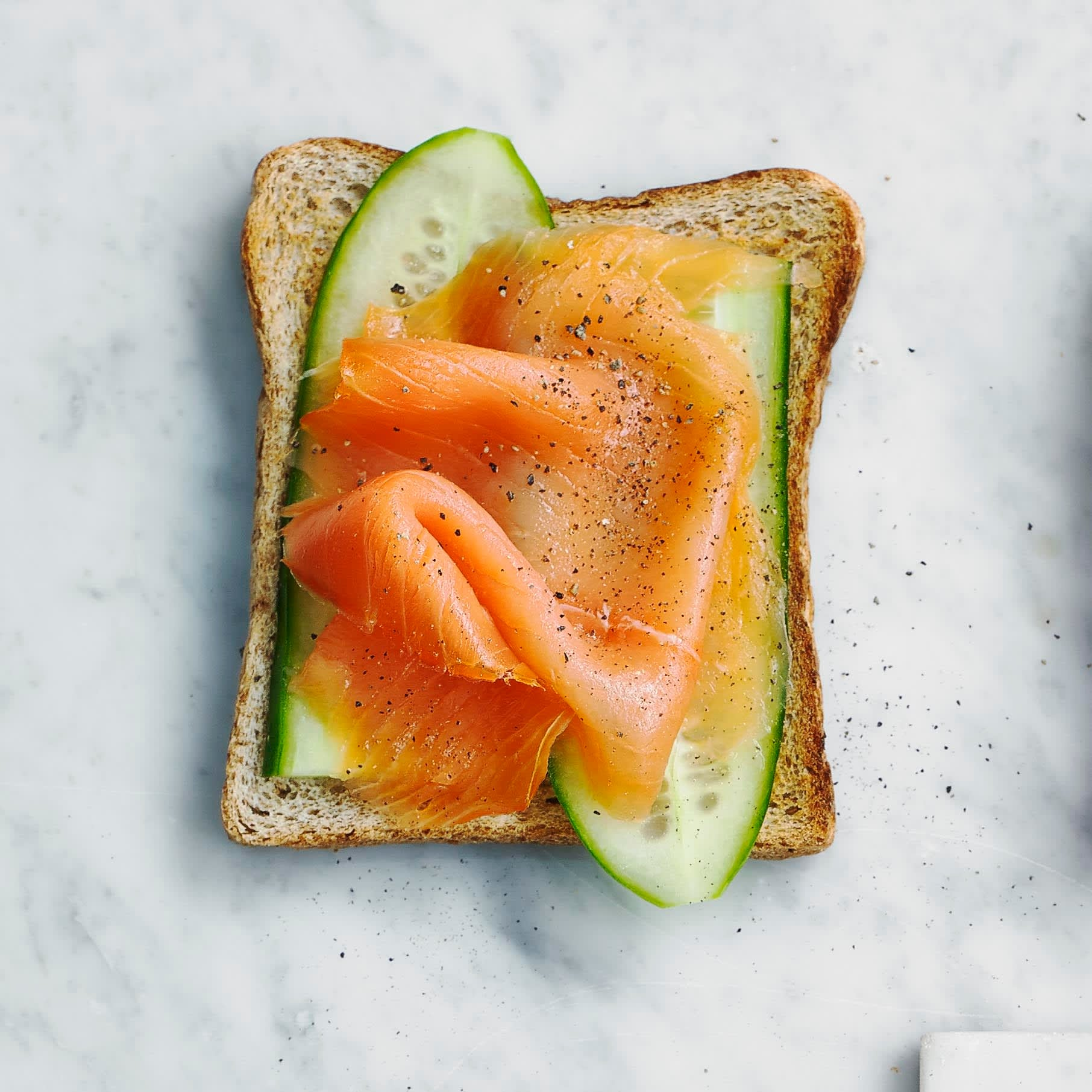 Photo of Salmon & cucumber toast topper by WW