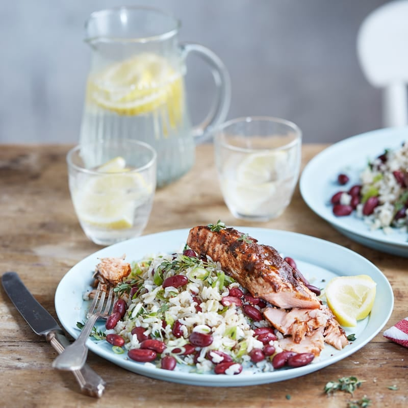 Photo of Jerk salmon with rice & beans by WW
