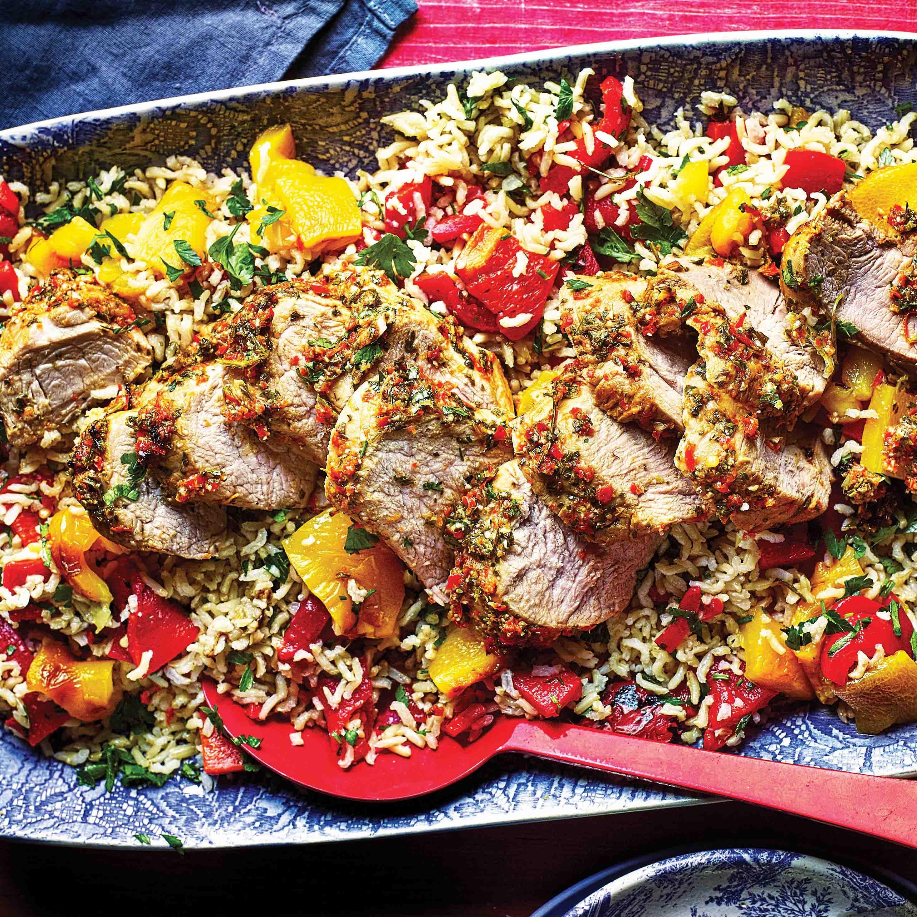 Photo of Piri piri pork with roasted pepper rice by WW