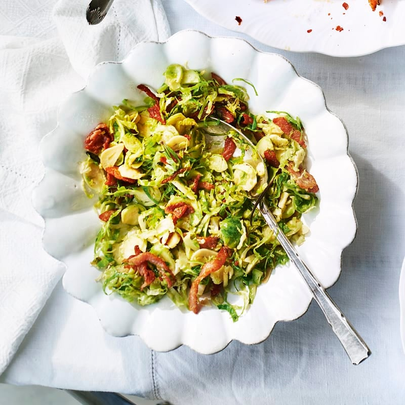 Photo of Shredded brussels sprouts with bacon by WW