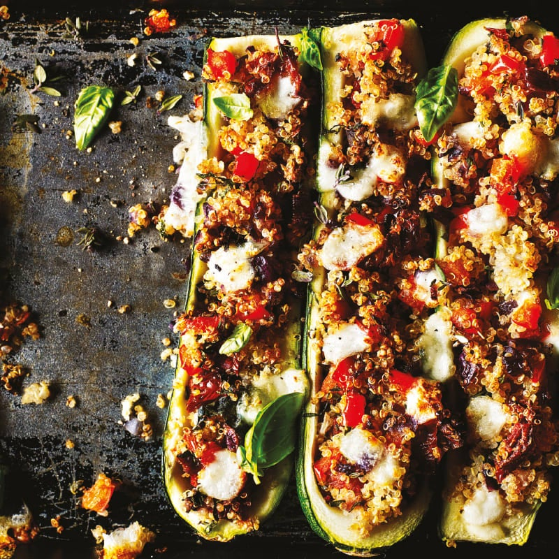 Photo of Herby quinoa stuffed courgettes by WW