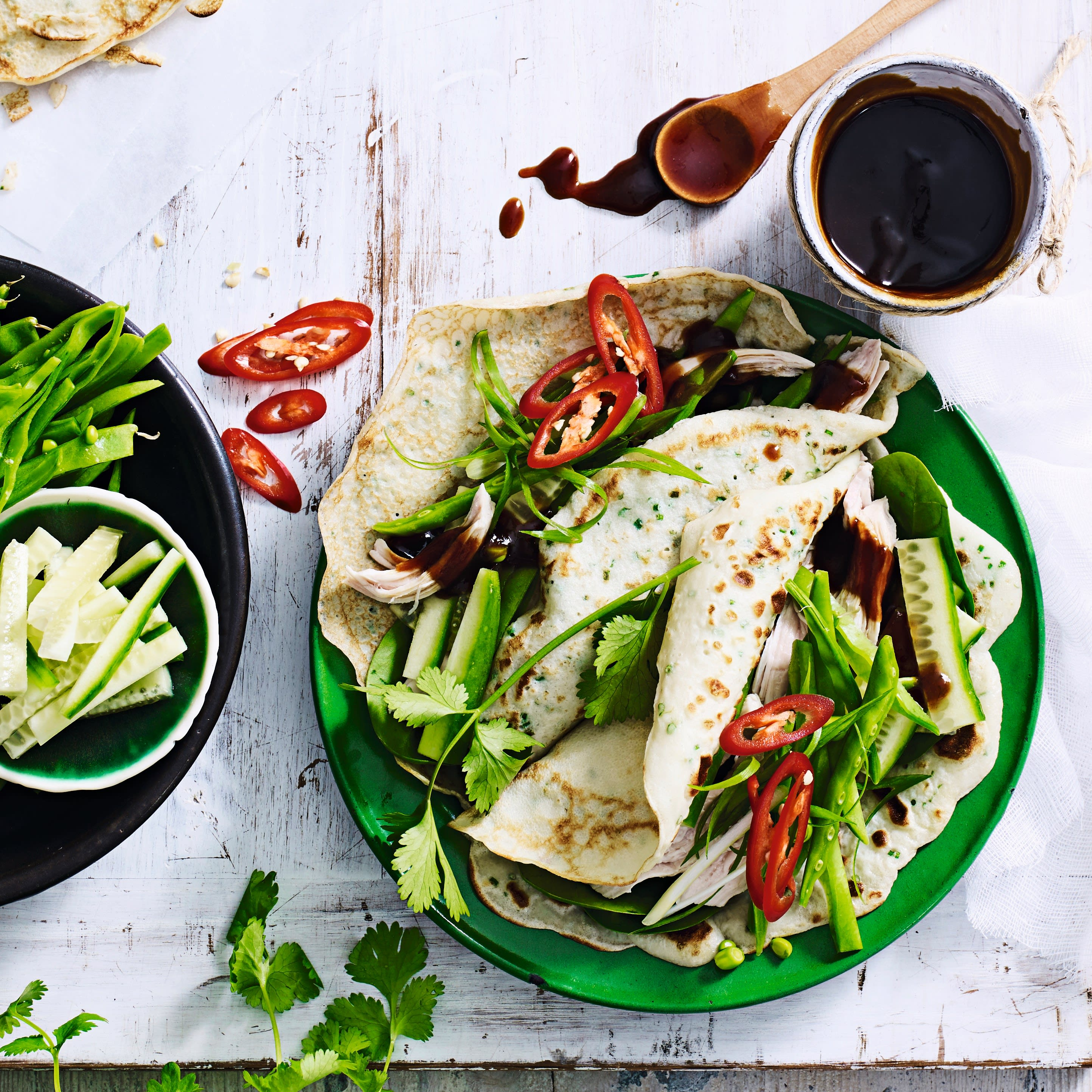 Photo of Hoisin chicken crepes with cucumber salad by WW