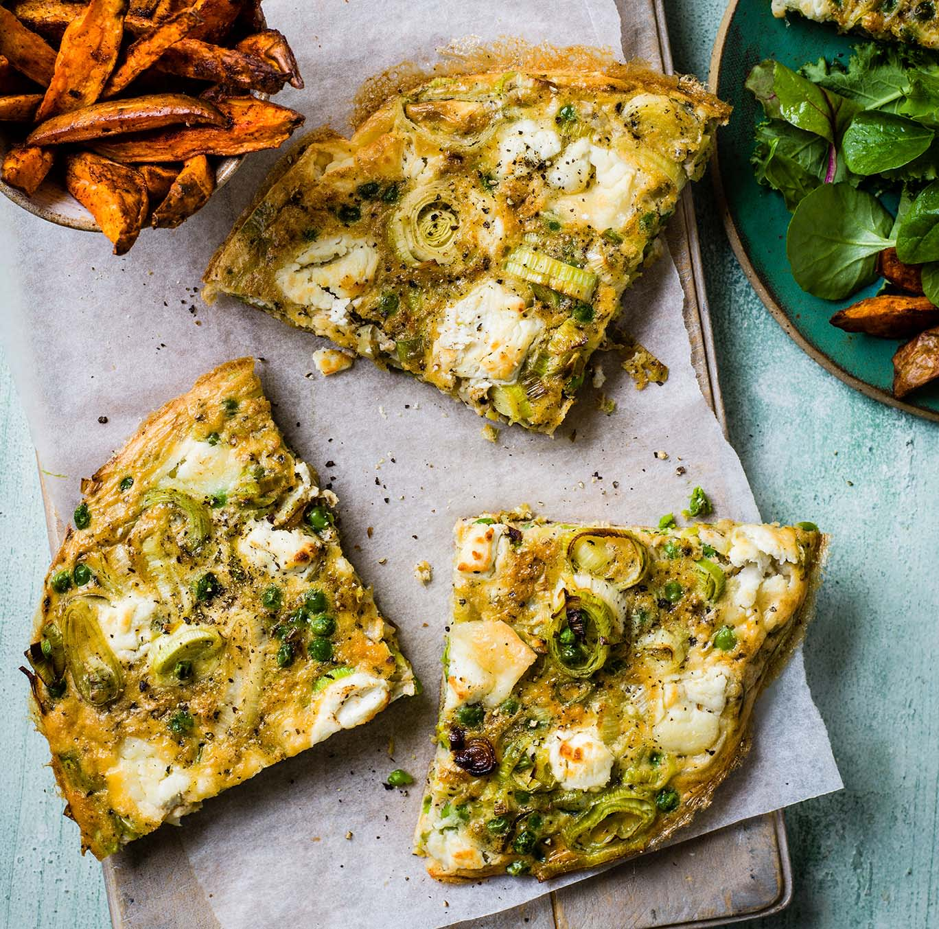 Photo of Baked pea, leek & goat's cheese omelette by WW