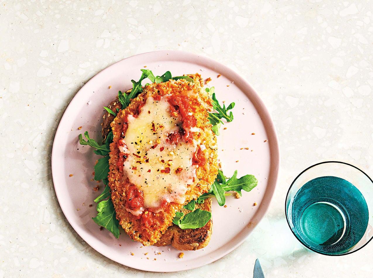 Photo of Chicken parmigiana open sandwiches by WW