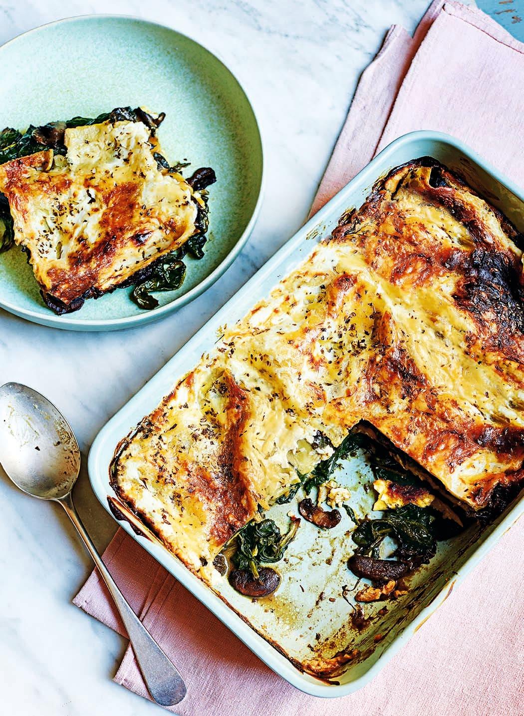 Photo of Mushroom, spinach & lentil lasagne by WW