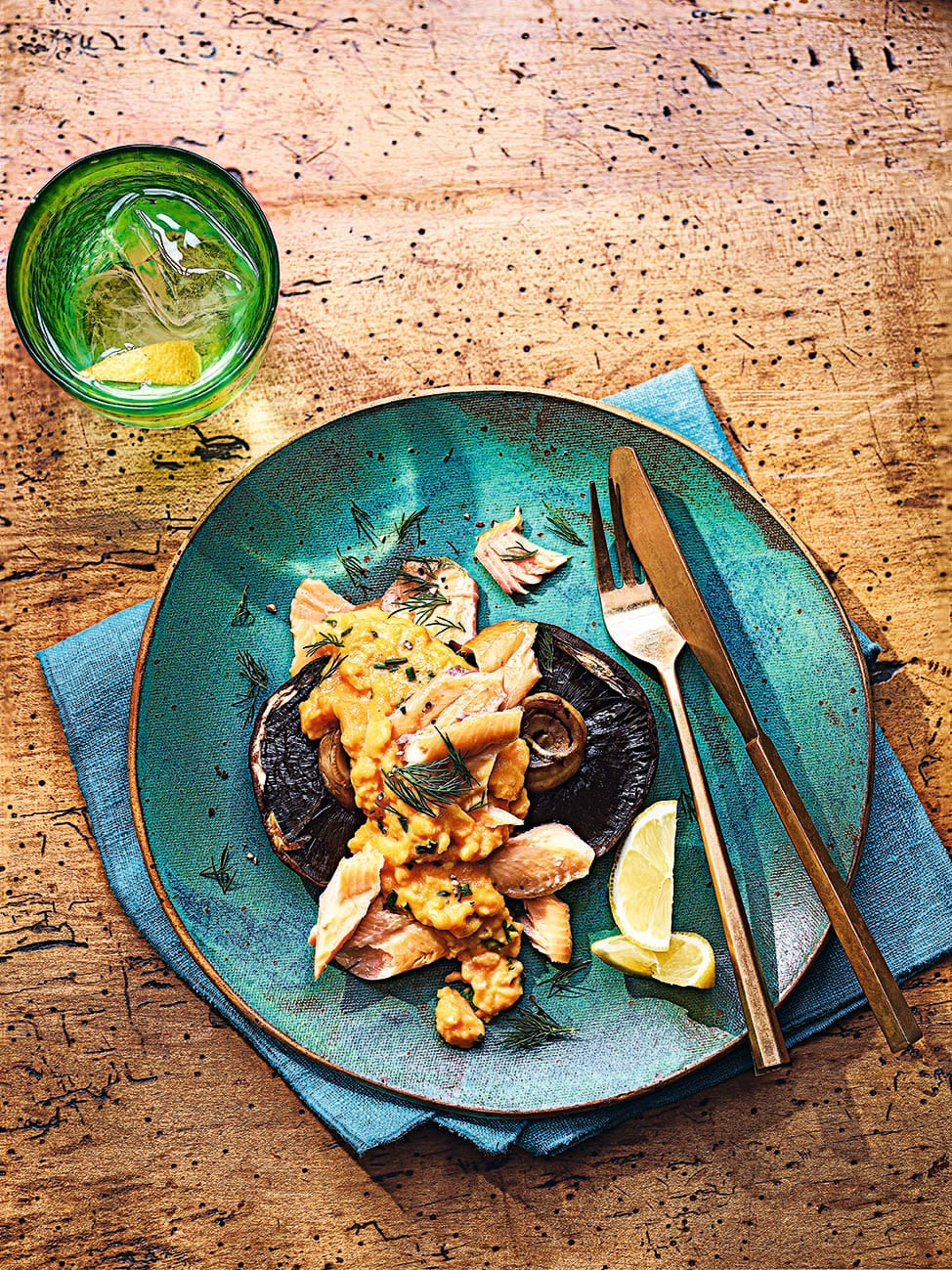 Photo of Scrambled eggs with mushrooms & smoked trout by WW