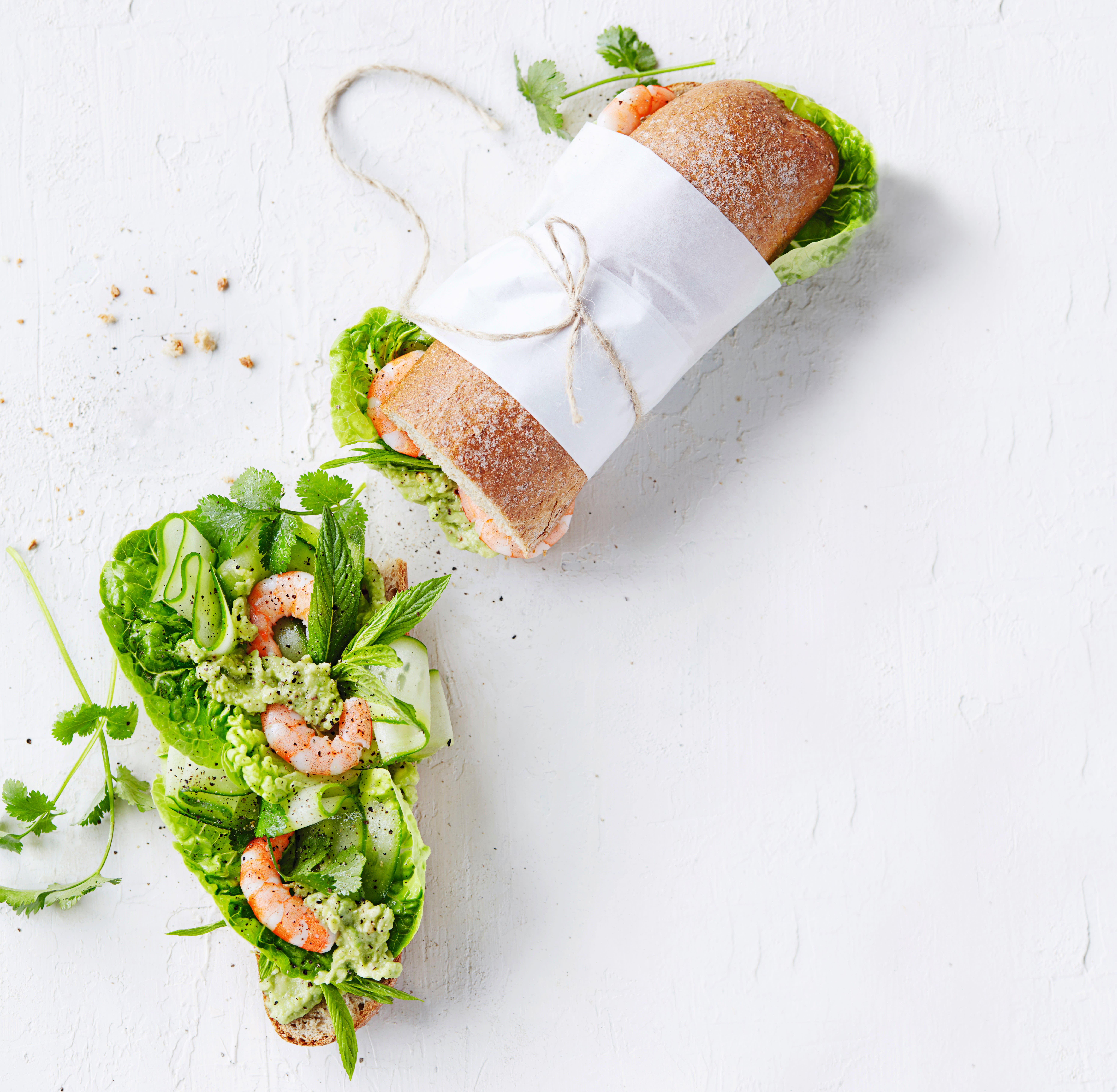 Photo of Prawn baguette with spicy avocado & herb salad by WW