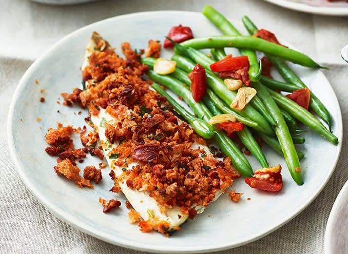 Photo of Sea bass fillets with chorizo crumb by WW
