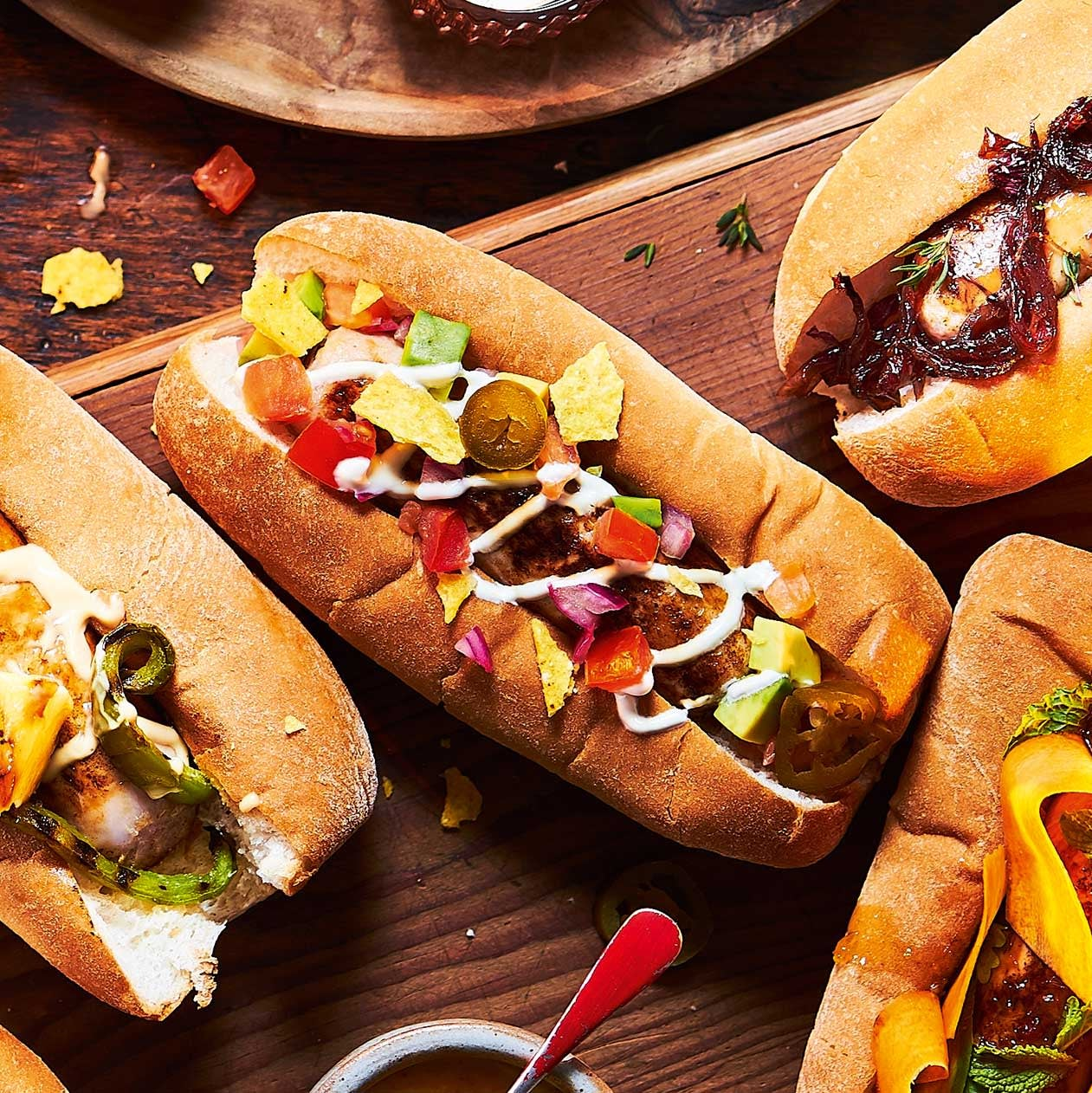 Photo of Mexican nacho-style hot dogs by WW