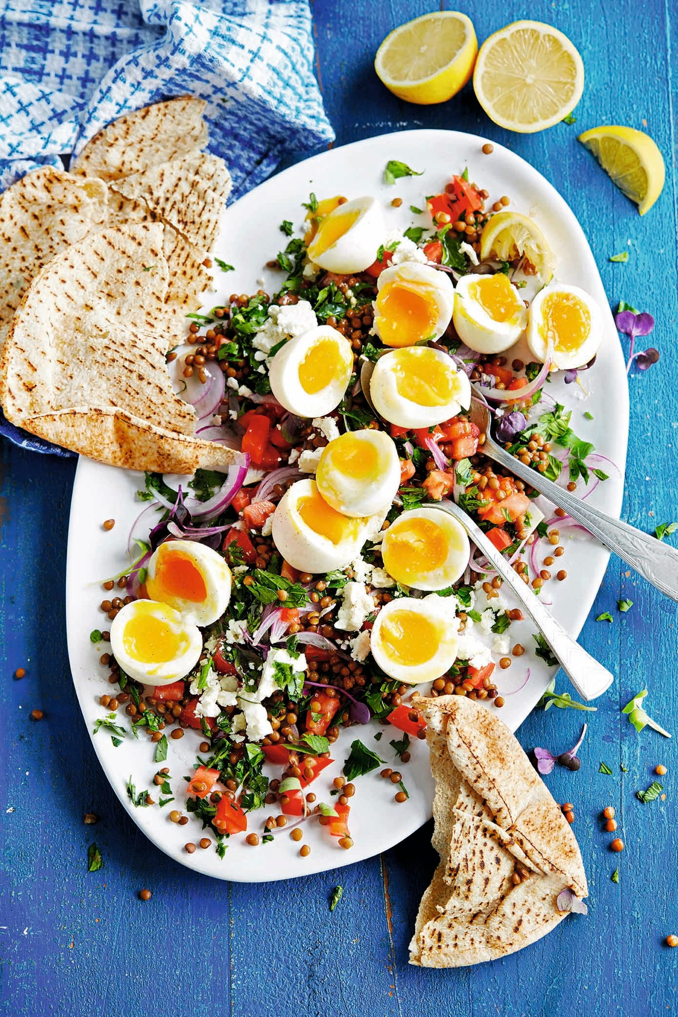 Photo of Boiled eggs with lentil tabbouleh by WW