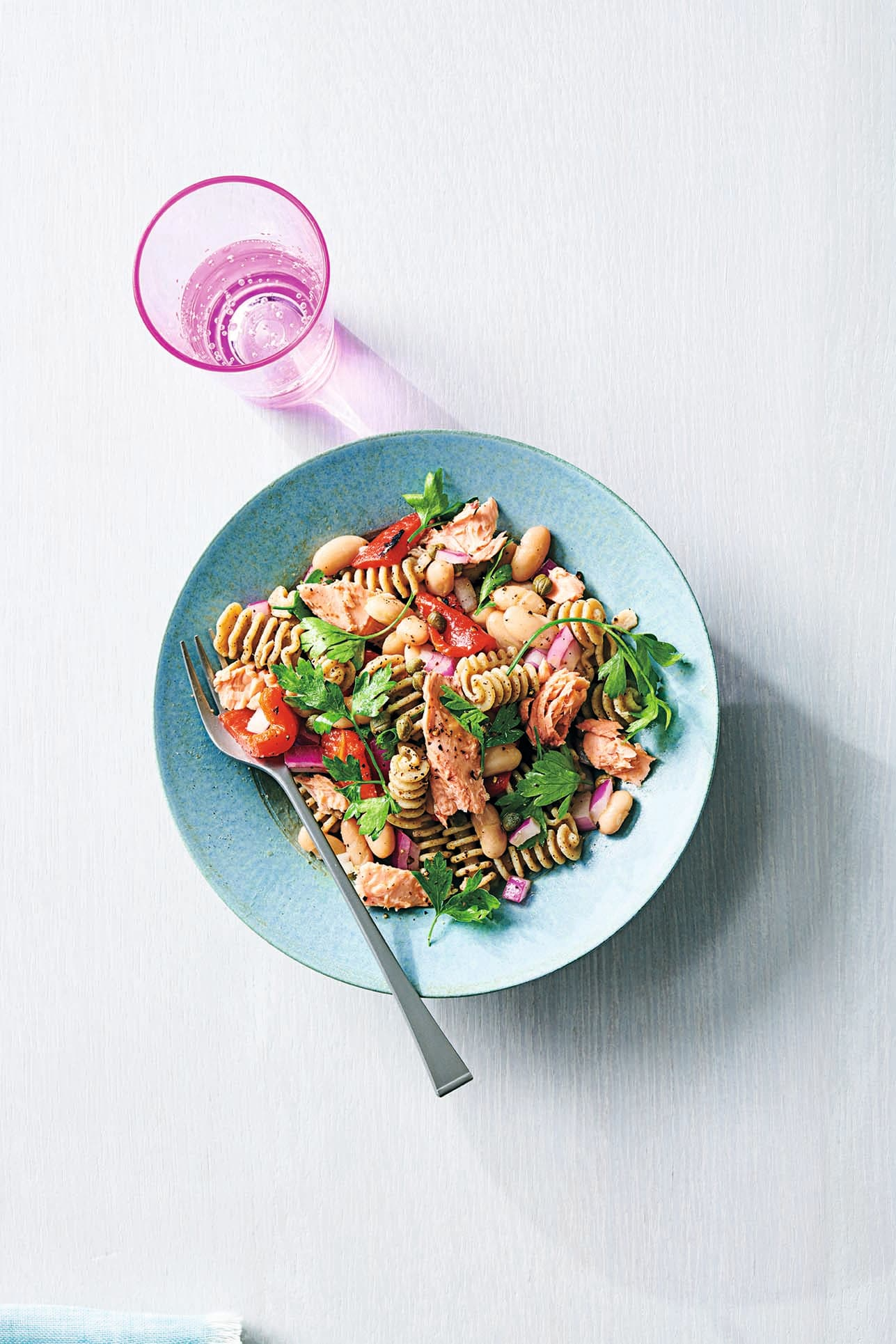 Photo of Salmon, white bean & pasta salad by WW