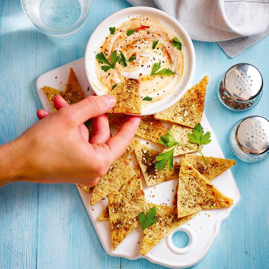 Photo of Bread crisps & spicy yogurt dip by WW
