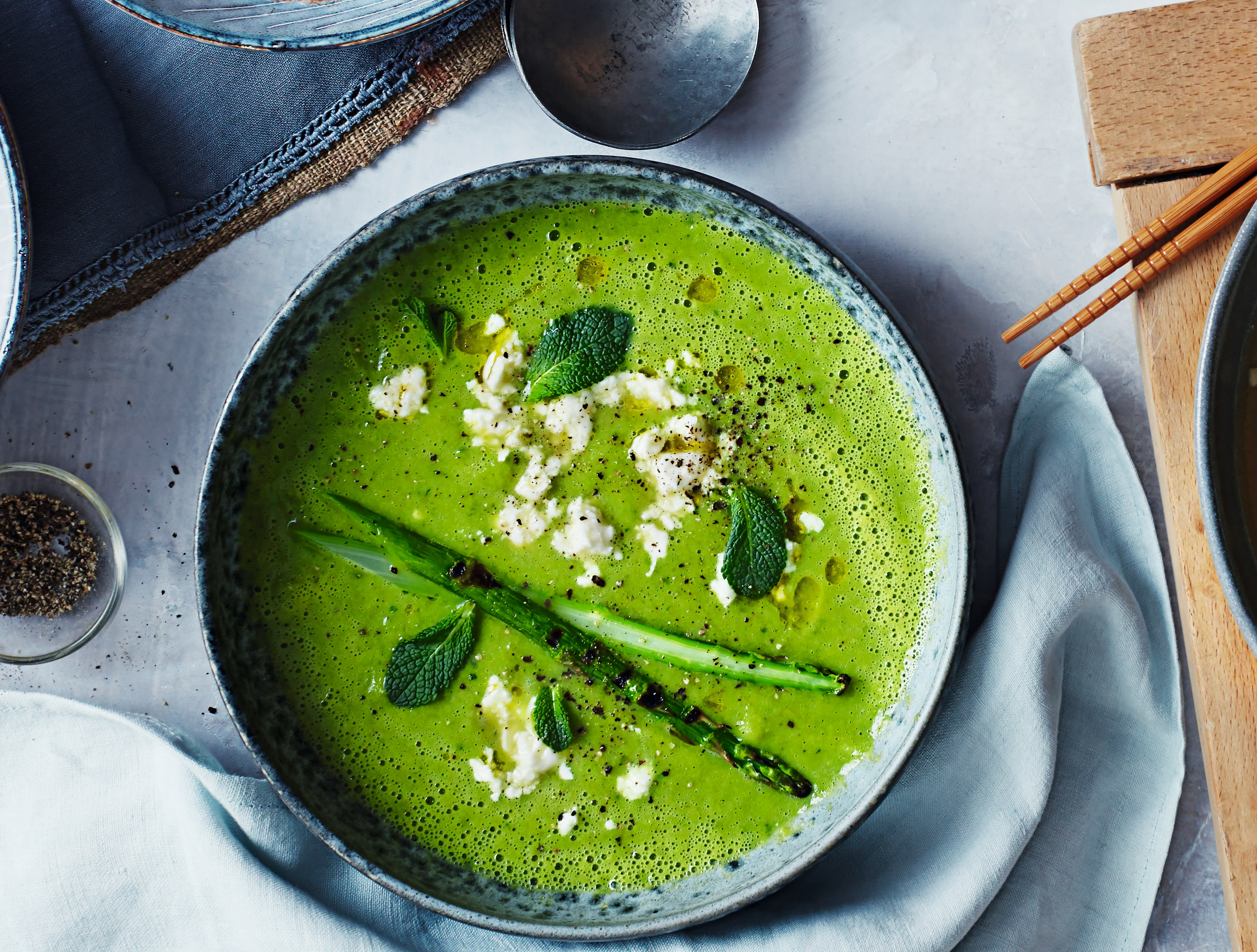 Photo of Pea, lettuce & asparagus soup by WW