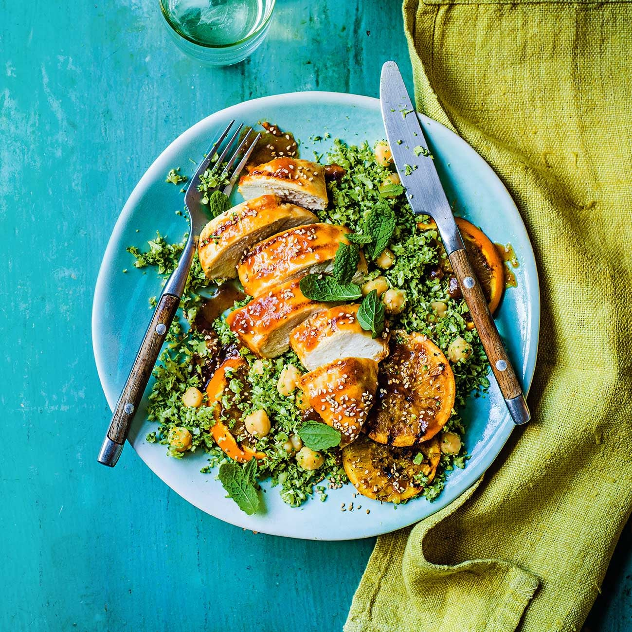 Photo of Orange & ginger chicken with broccoli 'rice' by WW